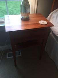 Cherry wood nightstand set