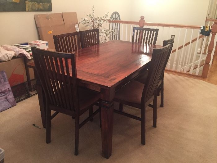 Dining room table with eight chairs Barn Wood  Solid wood  $950