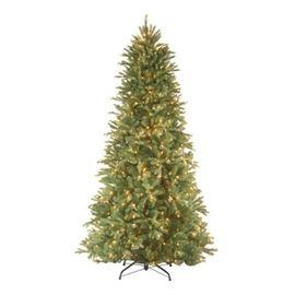 1 Tiffany Fir 9 Green Slim Artificial Christmas Tre ...