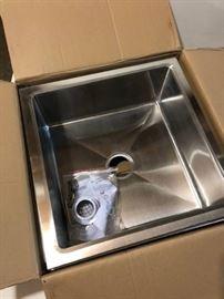 New In Box KROWNE Stainless Floor Mop Sink