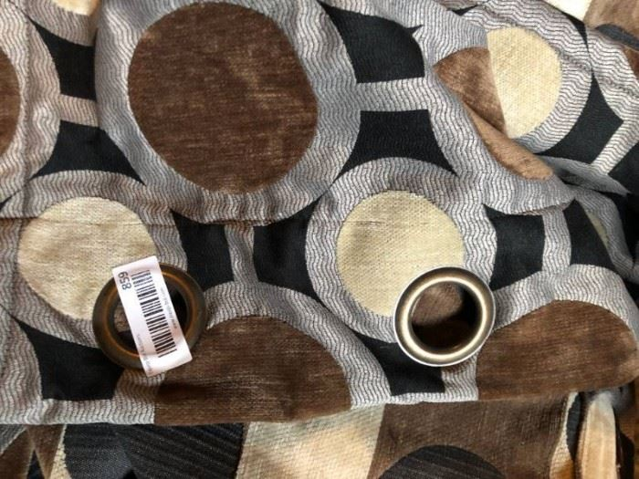 Nine Large Brown, tan black, gray Dotted pattern c ...