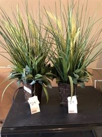 Pair of Silk Decor Grass Arrangements
