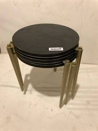 Vintage trio of stacking end tables