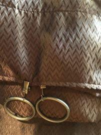 Two Brown Custom Designer Draperies curtains