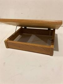 Wood Book Pedestal with Cross