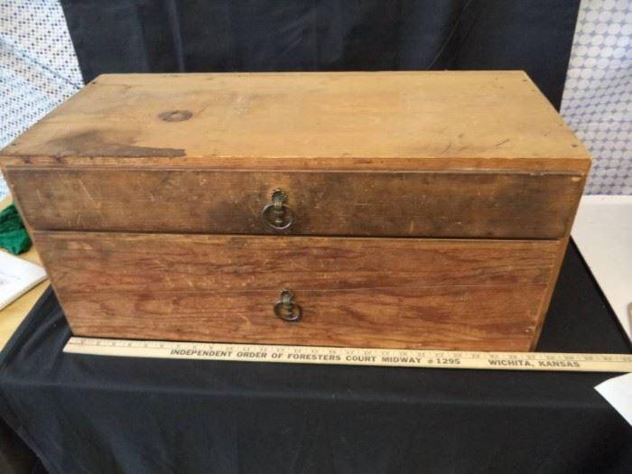 2 Drawer Wood Box