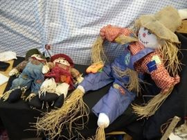 1 Big 2 small Scarecrows