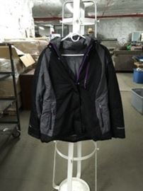 Black Zippered Coat Sz L