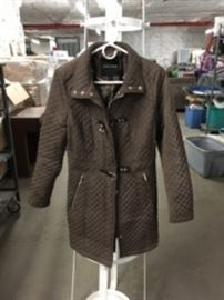Bronze Quilted Coat Sz XS
