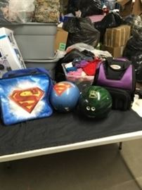 Bowling Balls and Bags Lot
