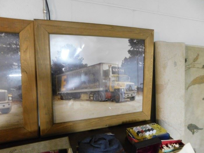 Vintage Estes Trucking Tractor Trailer Photographs