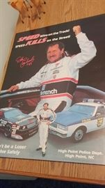 Dale Earnhardt and High Point Police Poster