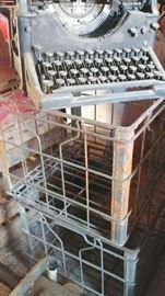 Old Typewriter, Old Milk Crates