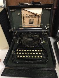 Early Corona Typewriter