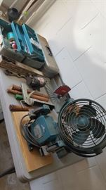 Fishing Tackle, tools, fans, space heaters