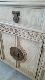 Front detail of dresser. Shangri-La Collection by Dixie Furniture.