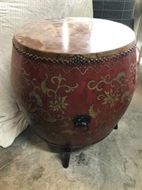 Drum purchased while in singapore great conversation/accent piece