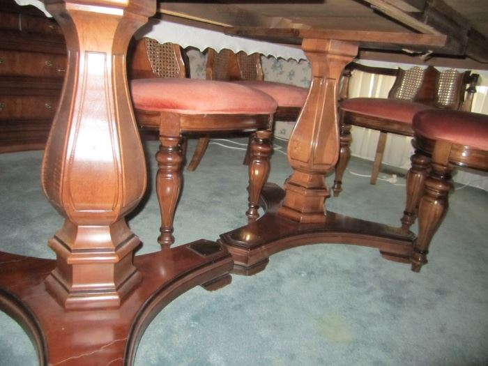 BASE OF DINING ROOM TABLE