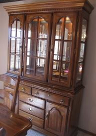 Beautiful Lighted Hutch