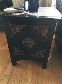 Asian black wooden cabinet
