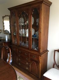 """Stanley """"The American Craftsman Collection"""" Lighted China cabinet (nice size)"""