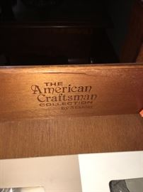 The American Craftsman collection by  Stanley end table