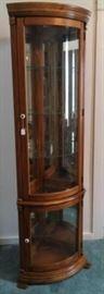 Light Up Corner Curio Cabinet