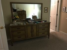 Bedroom Set and Mirror