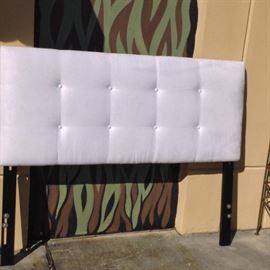 "White Suede Headboard; Queen Sized; Head Only; 62""W x 2""D x 51""H; $150; ref #: 18530"