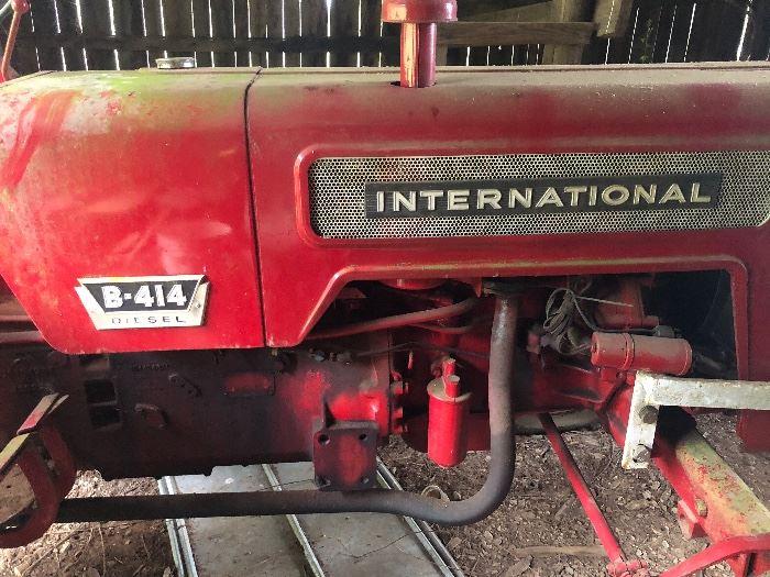 B-414 International farm tractor