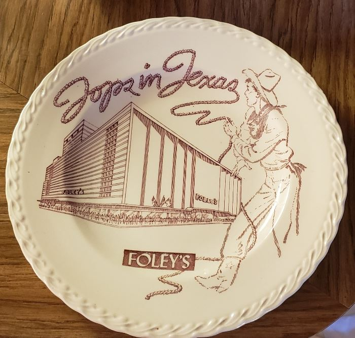 Tops in Texas Foleys Plate