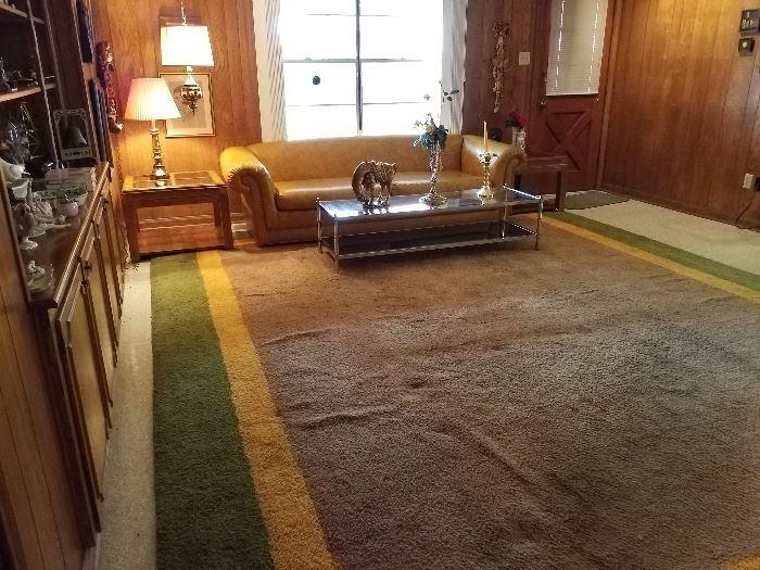 Large vintage area rug