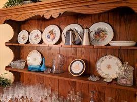 Decorative plates various antique glassworks