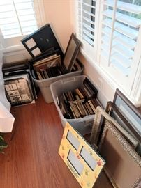 Large collection of picture frames
