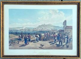 "Paul & Dominic Colnaghi Hand Colored Engraving ""Kerch From the North - Plate 3"", 1855"