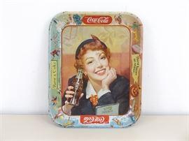 Vintage 1950's Metal Coca-Cola Coke Tray