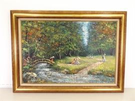 Framed Acrylic on Canvas Signed by Listed Artist Vittorio Tommasini