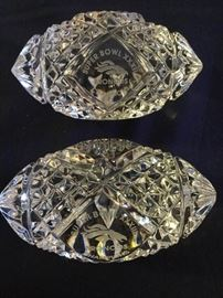 07 Waterford Super Bowl Crystal Footballs