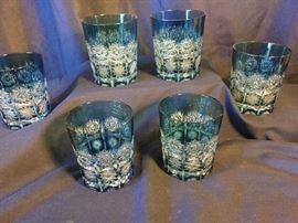 10 Caesar Crystal Bohemia Low Ball Glasses
