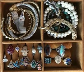 small selection of the massive amount of jewelry