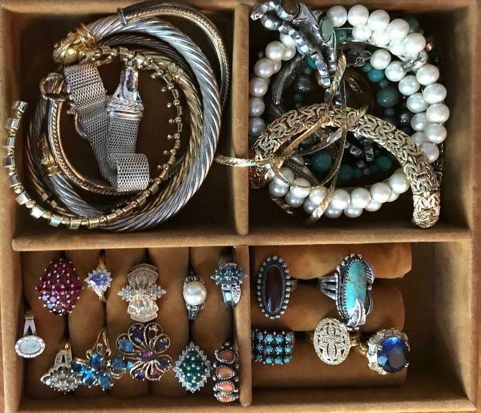 small selection of the massive amount of jewelry. We sold a lot of jewelry yesterday, but there's still a whole lot remaining!