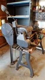 Industrial Lathe with many Accessories.