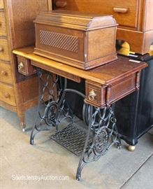Selection of ANTIQUE Treadle Sewing Machines  Located on the Dock – Auction Estimate $50-$100