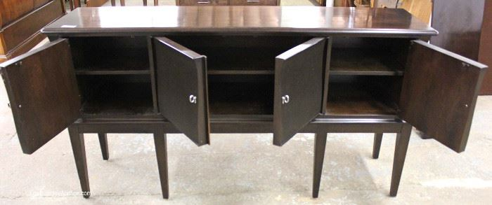 "Contemporary 4 Door Sideboard with Modern Lines  in the Espresso Mahogany Finish by ""Lexington Furniture"" Located Inside – Auction Estimate $200-$400"