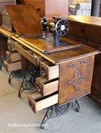 Selection of ANTIQUE Treadle Sewing Mahcines  Located on the Dock – Auction Estimate $50-$100