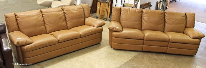 "Quality Double Recliner Leather Sofa and Match Leather Standard Sofa by ""Natuzzi""  Maybe be offered Separate – Located Inside – Auction Estimate $400-$800 each"