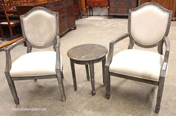 Contemporary 3 Piece Lounge Set of Table and Pair of Chairs  Located Inside – Auction Estimate $100-$200