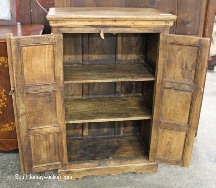 Solid Mahogany Antique Style 2 Door Pantry Cabinet  Located Inside- Auction Estimate e$100-$200