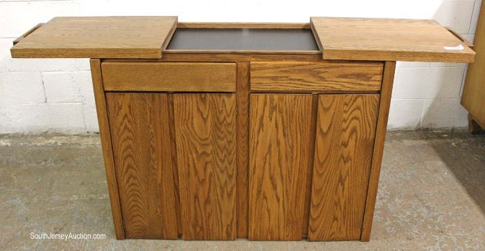 "Mid Century Modern Sliding Top Server by ""Conant""  Located Inside – Auction Estimate $100-$300"