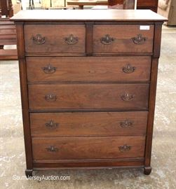 ANTIQUE Mahogany 2 Over 4 High Chest  Located Inside – Auction Estimate $200-$400